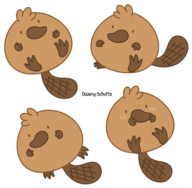 Beaver clipart chibi Best Kawaii Daieny on Pinterest