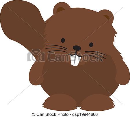Beaver clipart cute Cute  cheeky cartoon of