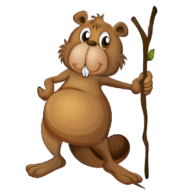 Beaver clipart cute With beaver Beaver image branch