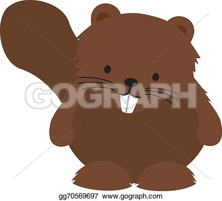 Beaver clipart funny White white gg70569697 Cute on