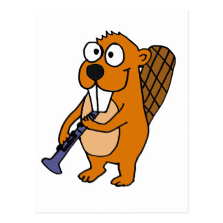 Beaver clipart funny Zazzle Postcard Beaver Cards Playing