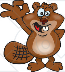 Beaver clipart happy Ok (RF) Royalty Clipart Gesturing