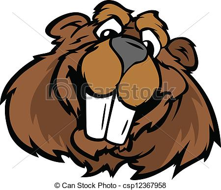 Beaver clipart happy Happy Smiling Beaver Graphic Cartoon