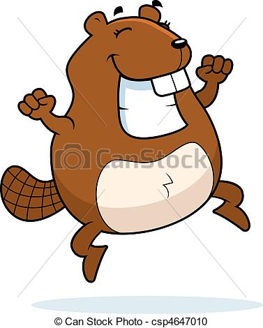Beaver clipart happy Cartoon  beaver Vector A