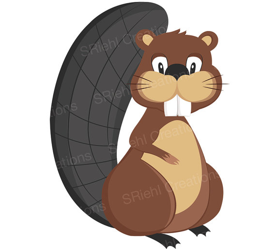 Beaver clipart kawaii By Clipart by Beaver Woodland