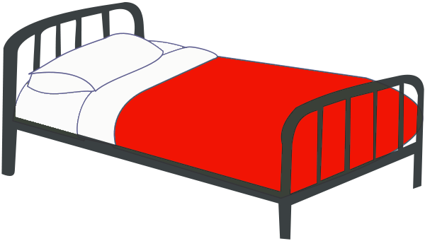 Bed clipart christmas Free page Clipart of Clip