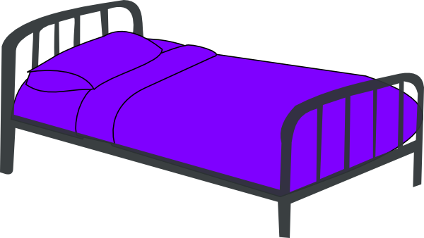 Bed clipart Free bed Cartoon art white