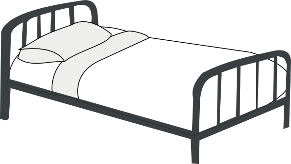 Bed clipart Vector royalty Bed art com