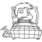 Bed clipart afraid Afraid And Kid Of Art