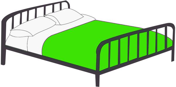 Bed clipart badroom Clip Green Art Bedroom Download