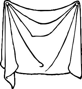 Bed clipart bed sheet Clip Sheet Draped Art Art