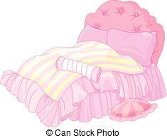 Bed clipart bedding Photo magic  Illustration 443