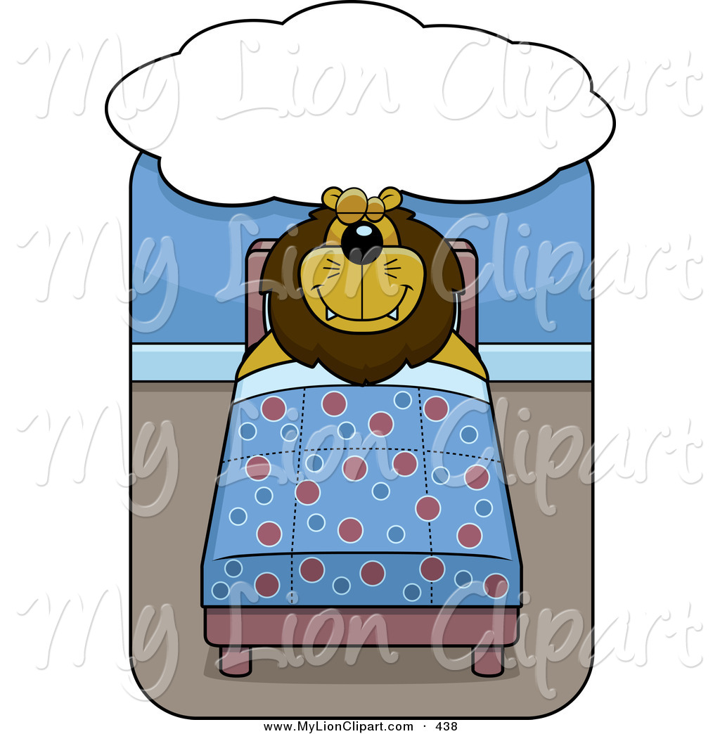 Bed clipart big bed Of Bed Lion Lion Clipart