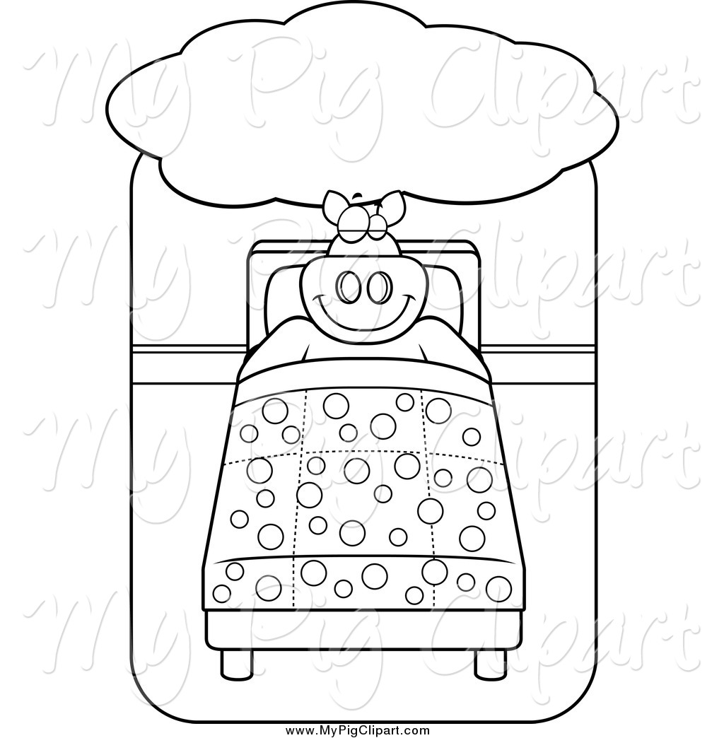 Bed clipart big bed Clipart a Big Lineart Bed