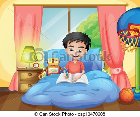 Bed clipart child bedroom A on on writing A