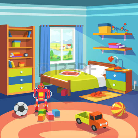 Bed clipart child bedroom 8 Magnificent Clipart Cupboard Bed
