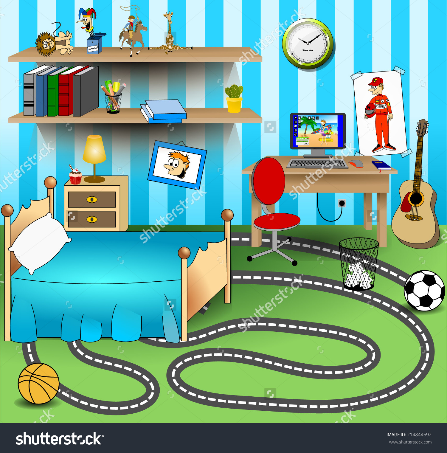 Bed clipart childrens bedroom For bedroom children children for
