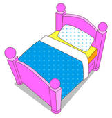 Bed clipart childrens bedroom K3543804 K3543804 Beduf jpg Kids
