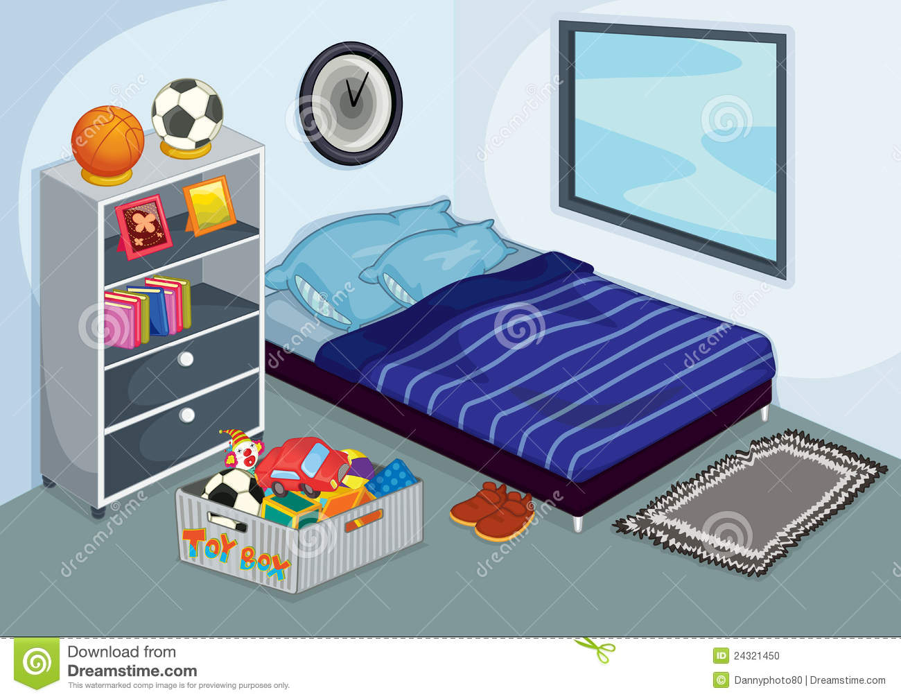 Bed clipart childrens bedroom 12 jpg Full Art Clip