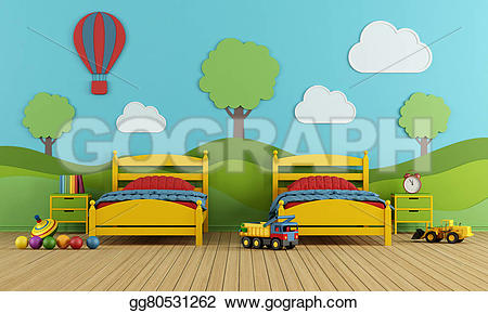 Bed clipart childrens bedroom Children's beds Clipart two and