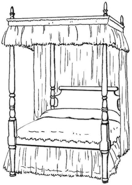 Bedroom clipart colouring #4