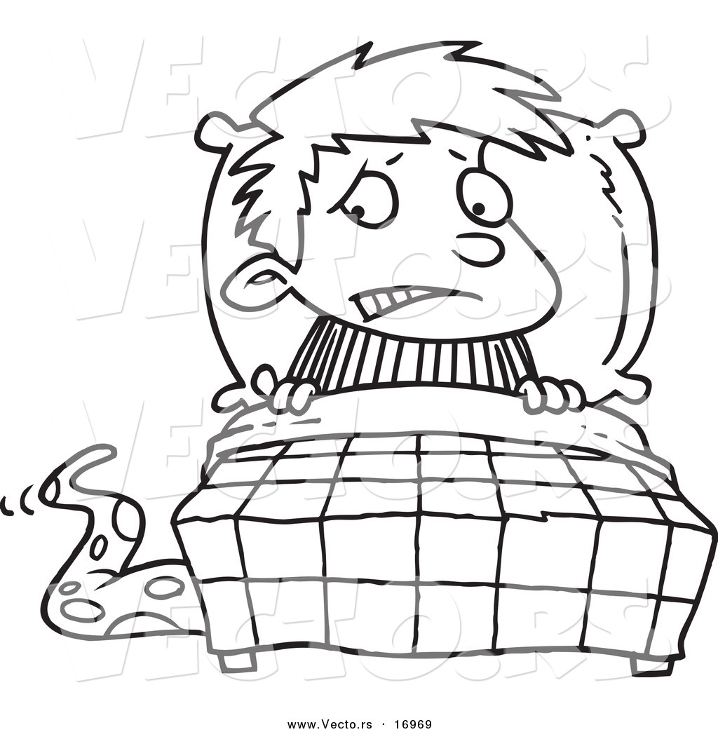 Scary clipart bed #3