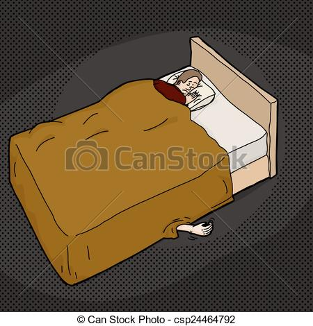 Bed clipart creepy Out under hand scared From