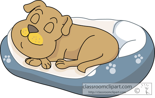 Bed clipart dog Clipart Dog sharing bed Cliparts