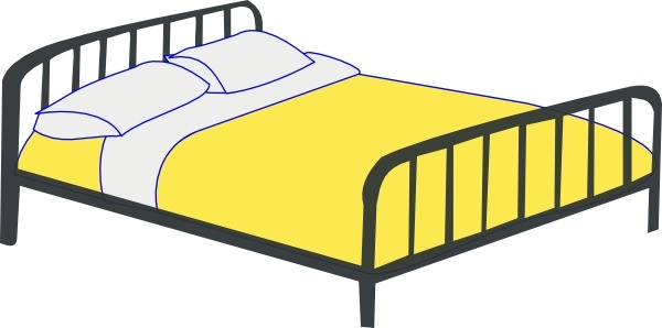 Bed clipart double bed Open Rfc Double Double Free