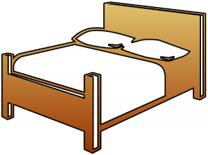 Bed clipart double bed Double Bed Download Clip Art