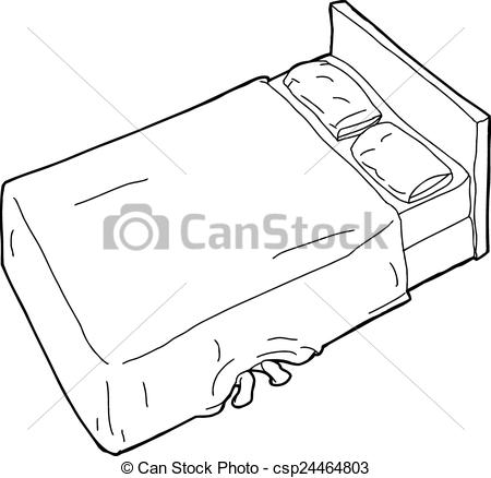 Drawn bed Of Outline Bed csp24464803 Feet