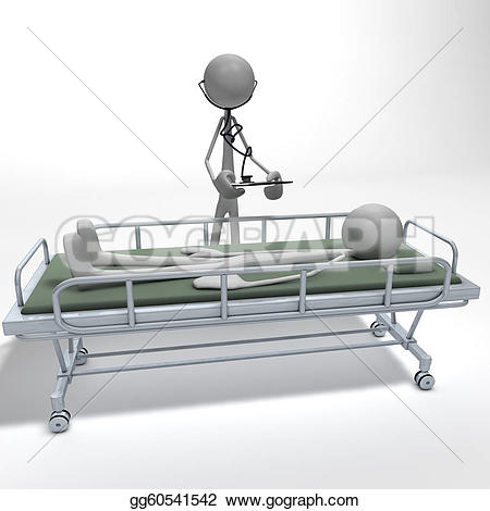 Bed clipart front view Bed a patient front on