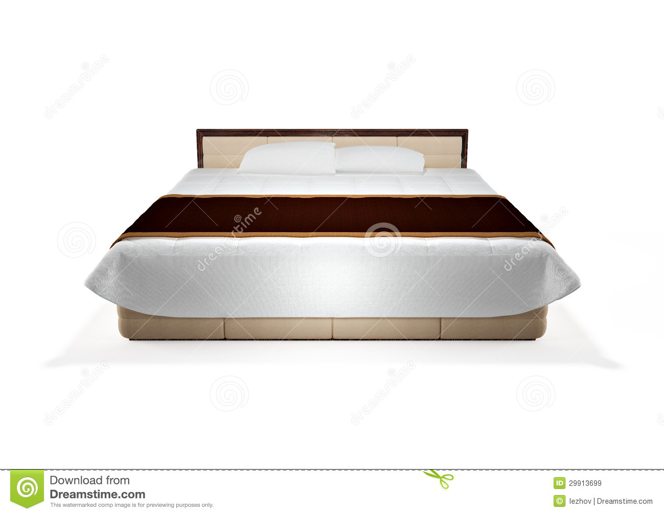 Bed clipart front view Front view White collection Bed