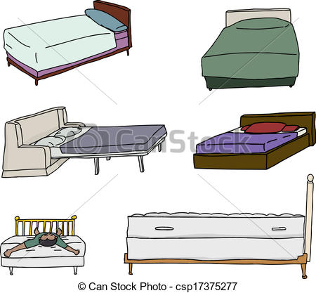 Bed clipart front view Various Isolated Bed Vectors Cartoons