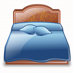 Bed clipart front view Tradition Clipart Front Illustration view