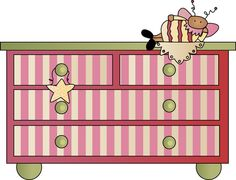 Bed clipart girly ClipArt GIRLY/FASHION abelhas Pin e