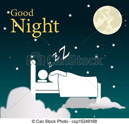 Bed clipart goodnight Night clipart clipart image Good