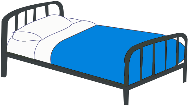 Bed clipart green Bed Bed Single Colors Clip