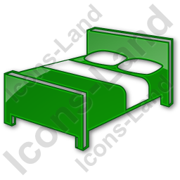 Bed clipart green Bed Icon PNG/ICO 256x256 3D