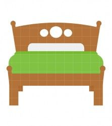 Bed clipart green Tale art and Clipart Art