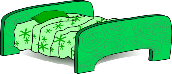Bed clipart green Clip Art  Art bedroom