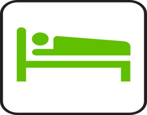 Bed clipart green Art vector clip online at