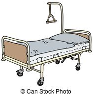 Bed clipart hospital Vector bed Old  drawing