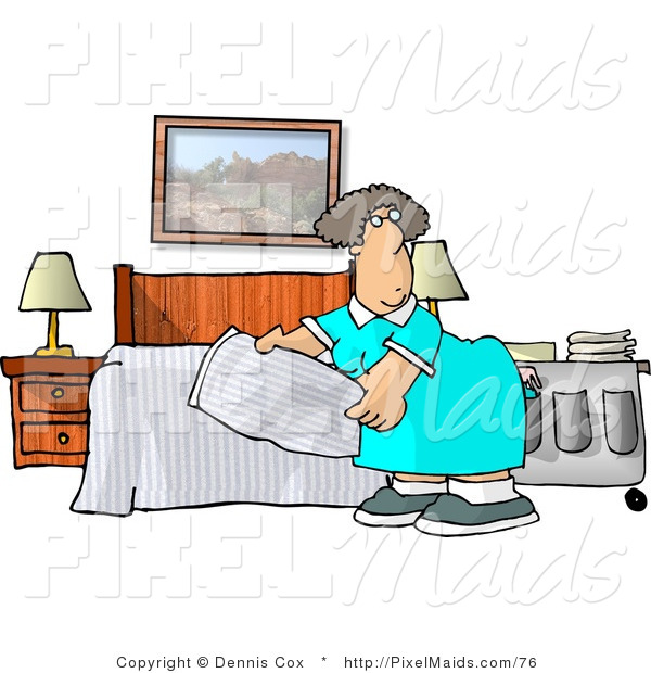 Bed clipart hotel bed Clipart #76 Making Hotel Bed