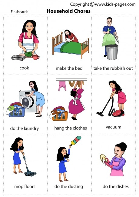 Bed clipart household chore 3 chores Household WikiClipArt household