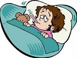 Bed clipart illness In bed mouth in sick