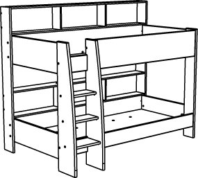 Bedroom clipart line drawing Clipart Panda Drawing Bed Bunk