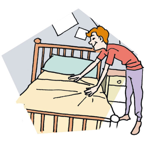 Pillow clipart made bed Of Situations Clipart made People