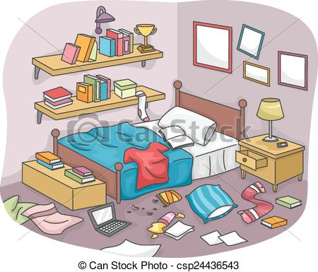 Room clipart cluttered room #2