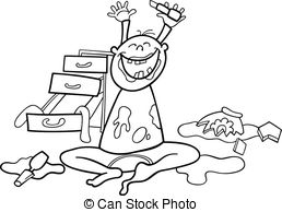 Bed clipart mess Clipart white Clip Stock Black